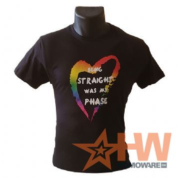 'Being straight was my phase'-T-shirt, XXX-Large