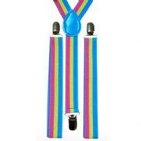 Slim pansexual suspenders