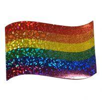 Aaltoileva glitter sateenkaaritarra