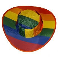 Rainbow foldable hat
