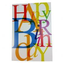 Sateenkaariaiheinen syntymäpäiväkortti
