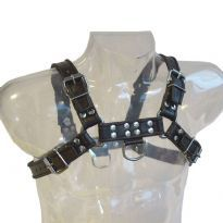 Club Homoware Musta harness mustilla raidoilla, Large