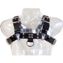 Satulanahasta valmistettu musta harness