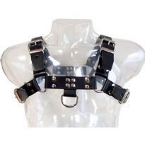 Club HomowareSatulanahasta valmistettu musta harness, Medium