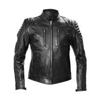 Mister B:n musta nahkainen biker takki