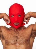 Mr. B:n lycrainen maski avoin suu ja silmät