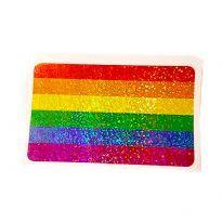 Rainbow glitter sticker
