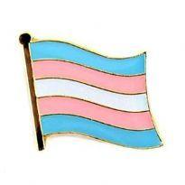 Aaltoileva pinssi transsukupuolisen lipulla