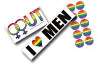 Nauti mahtavista sateenkaaritarroista joka päivä, Pride väriset edulliset tarrat, karhusymbolilla koristellut tarrat karhuille