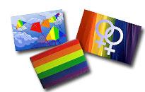 Homoille ja lesboille halpoja jääkaappimagneetteja, Sateenkaarimagneetteja Pride teemalla, Karhumiehille karhutunnusmagneetti