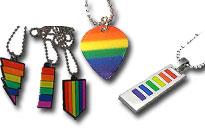 Sateenkaari ja pride kaulakorut edullisesti, Paljon erilaisia homo kaulakoruja, Pidä sateenkaarikorua kaulasi ympärillä