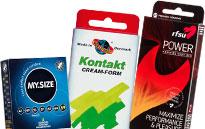 Kondomipaketit halvalla hinnalla, Kondomipakkaukset isoille ja pienille munille, Ohuita ja paksuja kondomeja paketissa