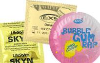 Erityiskondomit piristämään seksielämää, Pervot mustat kondomit, Kondomit turvalliseen perseennuolentaan
