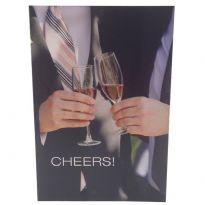 Cheers! homoaiheinen onnittelukortti