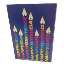 Kynttilä syntymäpäiväkortti