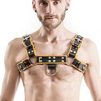 Mister B:n kuminen Chest Harness - musta/keltainen