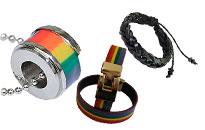 Suuri valikoima erilaisia koruja homoille, Riipuksia ranne- ja korvakoruja homoille, Sateenkaarikoruja halvalla homoille